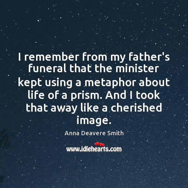Image, I remember from my father's funeral that the minister kept using a