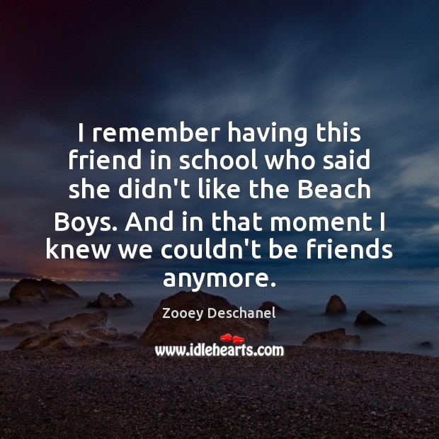 Image, I remember having this friend in school who said she didn't like