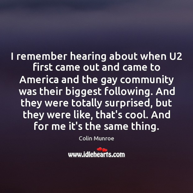 Image, I remember hearing about when U2 first came out and came to