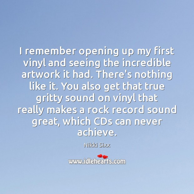 I remember opening up my first vinyl and seeing the incredible artwork Image