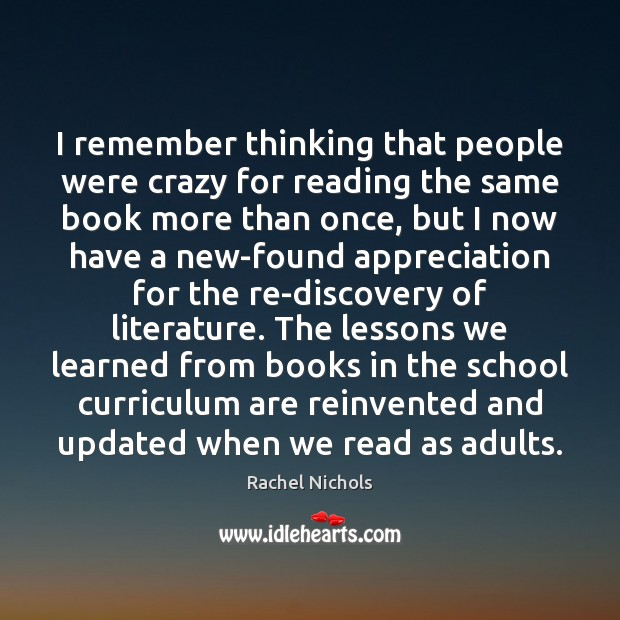 Image, I remember thinking that people were crazy for reading the same book