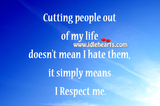 Cutting people out of my life Image