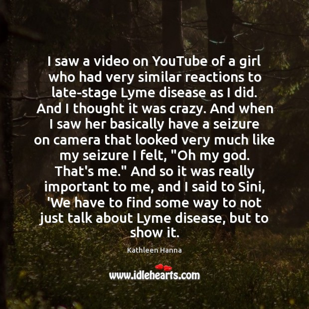 I saw a video on YouTube of a girl who had very Image