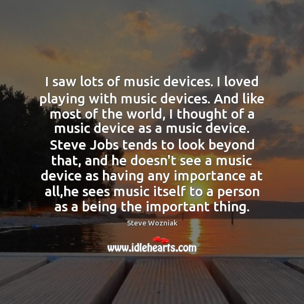 I saw lots of music devices. I loved playing with music devices. Image