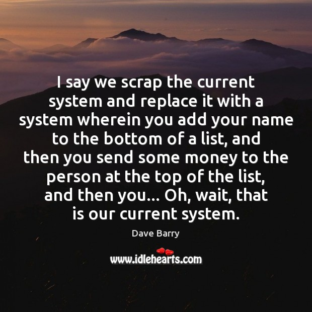 I say we scrap the current system and replace it with a Image
