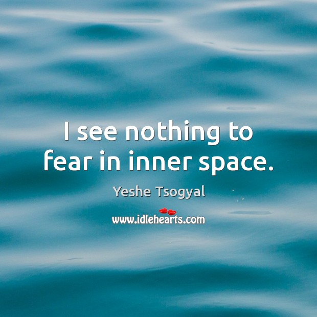 I see nothing to fear in inner space. Image