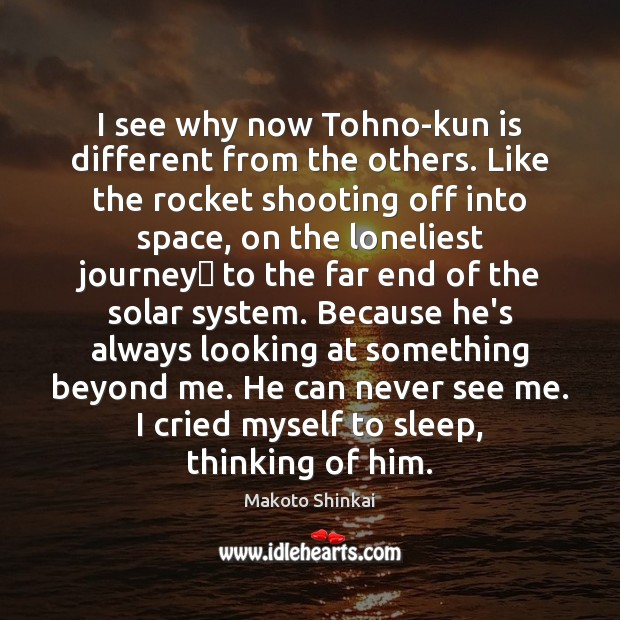 I see why now Tohno-kun is different from the others. Like the Image