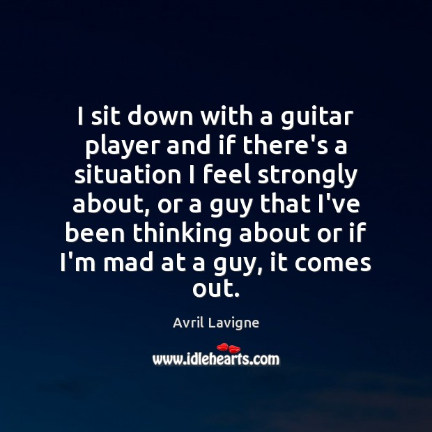 I sit down with a guitar player and if there's a situation Image