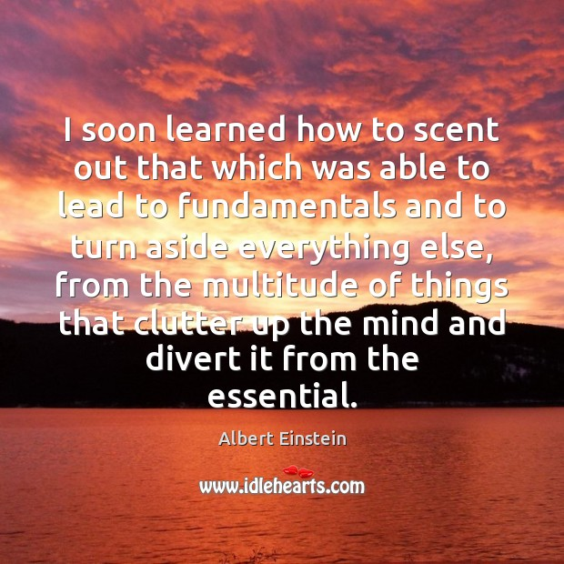 I soon learned how to scent out that which was able to Image