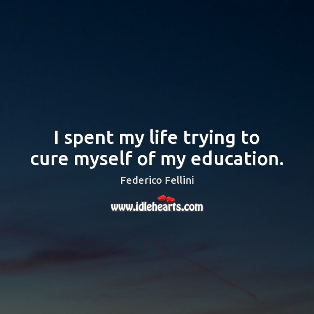 I spent my life trying to cure myself of my education. Image