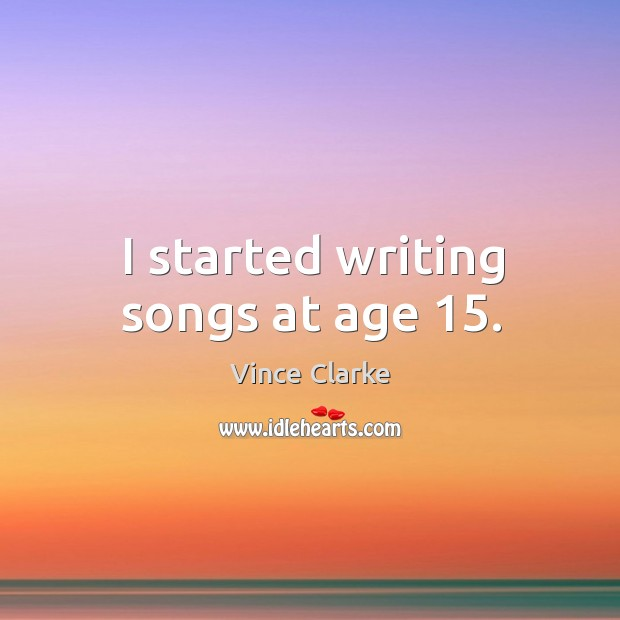 Picture Quote by Vince Clarke
