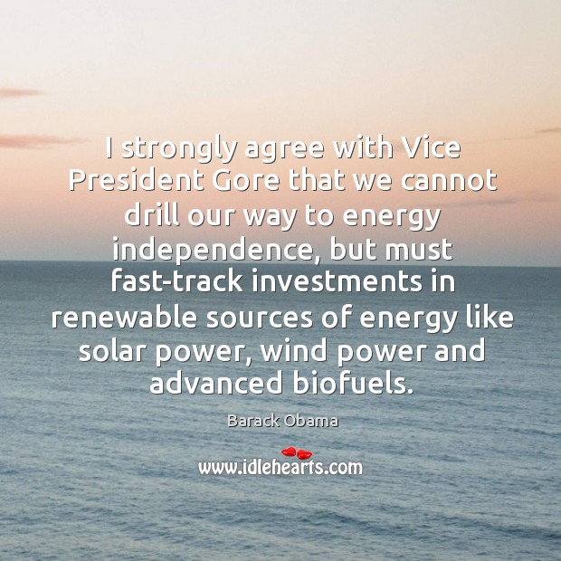 Image, I strongly agree with Vice President Gore that we cannot drill our