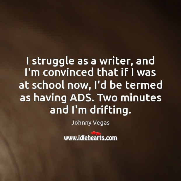 I struggle as a writer, and I'm convinced that if I was Image