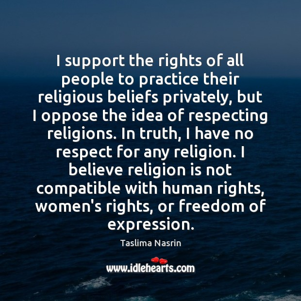 Image, I support the rights of all people to practice their religious beliefs