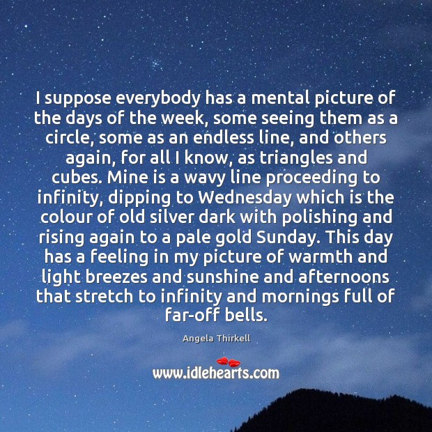 Image, I suppose everybody has a mental picture of the days of the