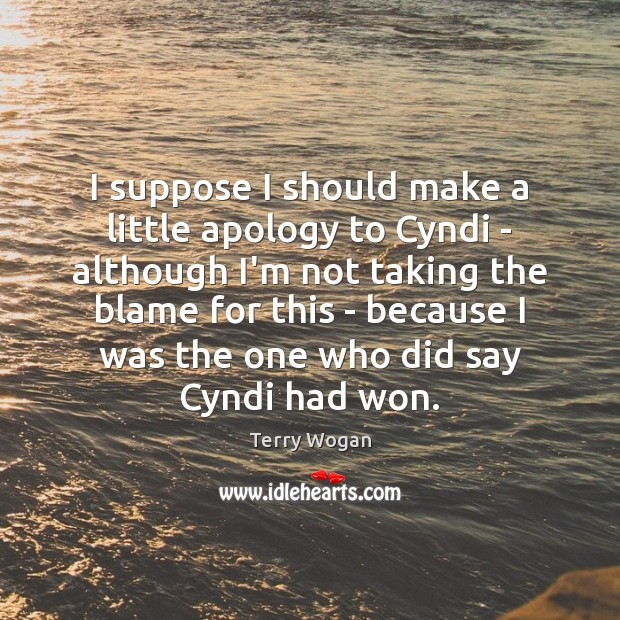 I suppose I should make a little apology to Cyndi – although Image