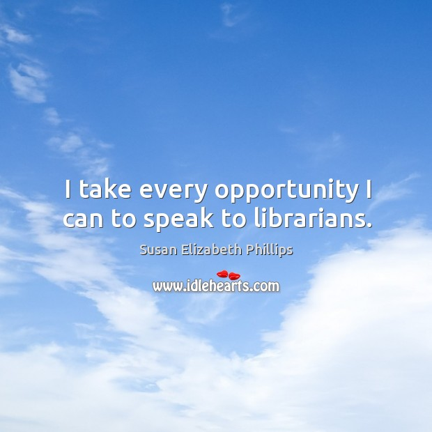 I take every opportunity I can to speak to librarians. Image