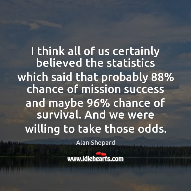 Image, I think all of us certainly believed the statistics which said that