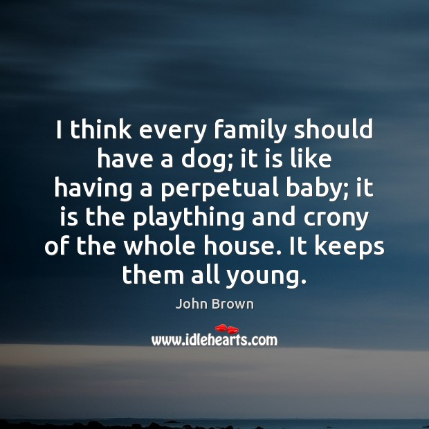 I think every family should have a dog; it is like having Image