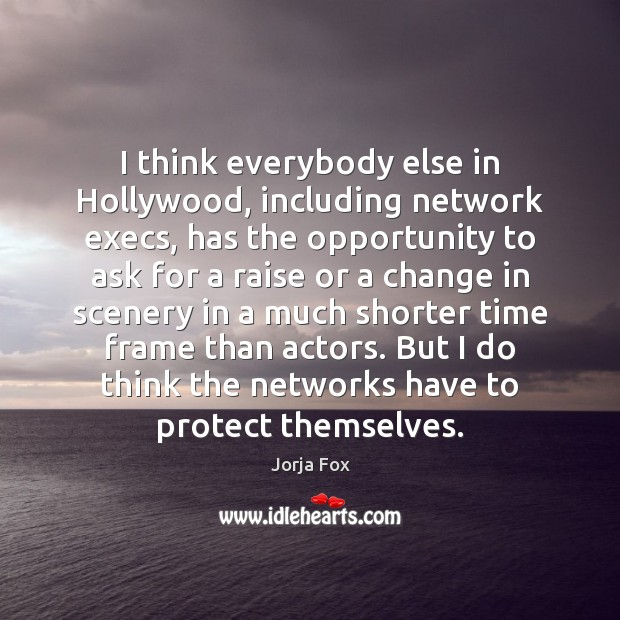 Image, I think everybody else in Hollywood, including network execs, has the opportunity