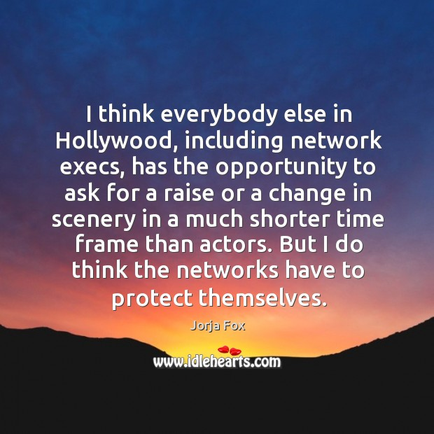 Image, I think everybody else in hollywood, including network execs