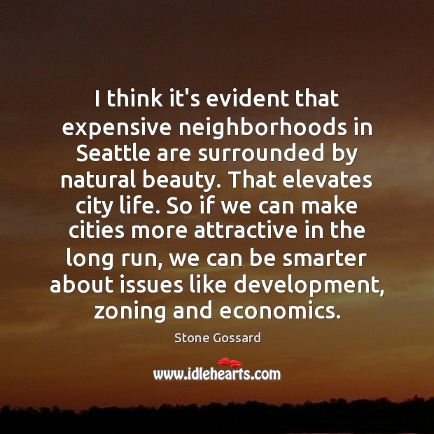 I think it's evident that expensive neighborhoods in Seattle are surrounded by Image
