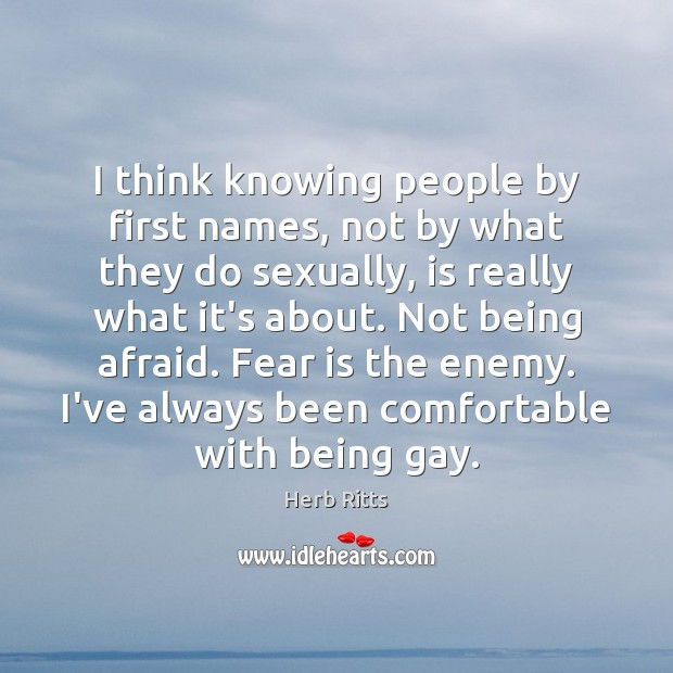 I think knowing people by first names, not by what they do Image