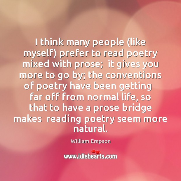 I think many people (like myself) prefer to read poetry mixed with Image