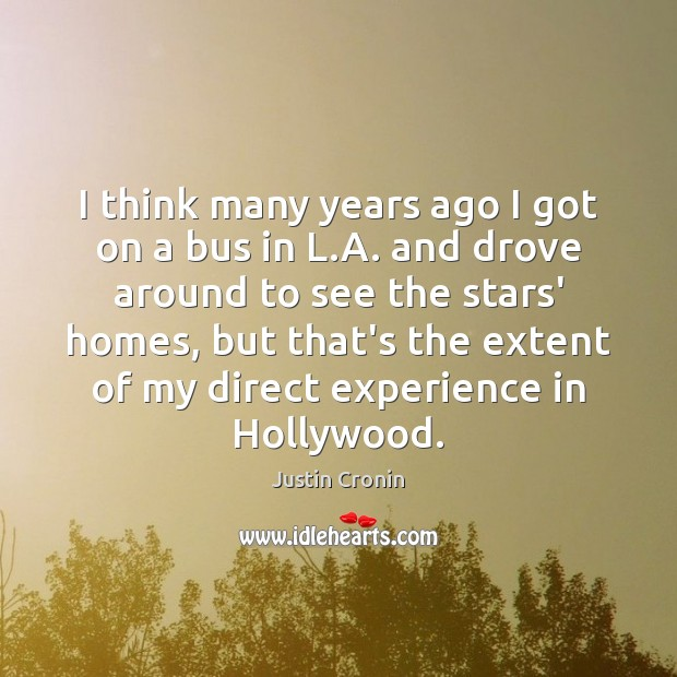 I think many years ago I got on a bus in L. Image