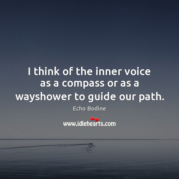 Image, I think of the inner voice as a compass or as a wayshower to guide our path.