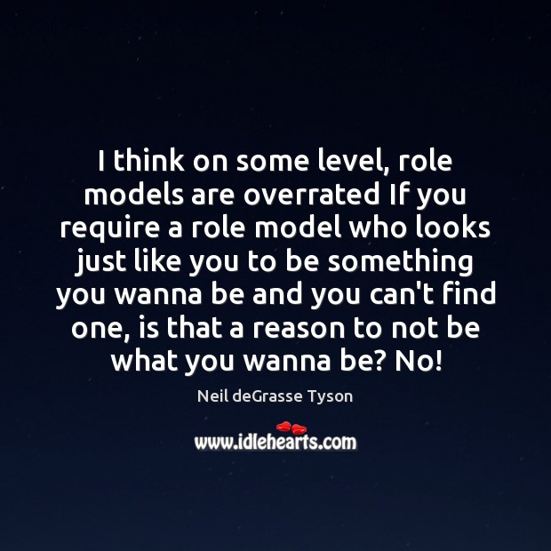 I think on some level, role models are overrated If you require Image