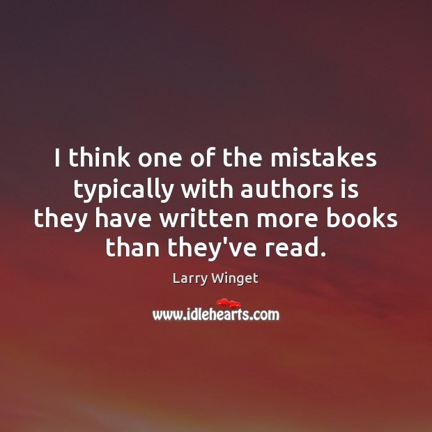 I think one of the mistakes typically with authors is they have Image
