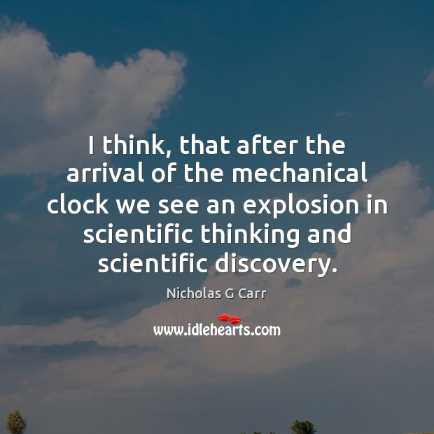 I think, that after the arrival of the mechanical clock we see Image