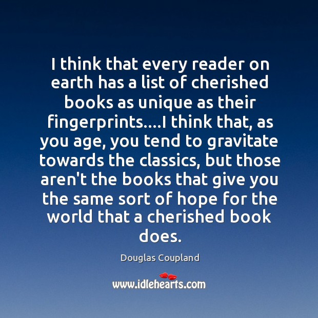 Image, I think that every reader on earth has a list of cherished