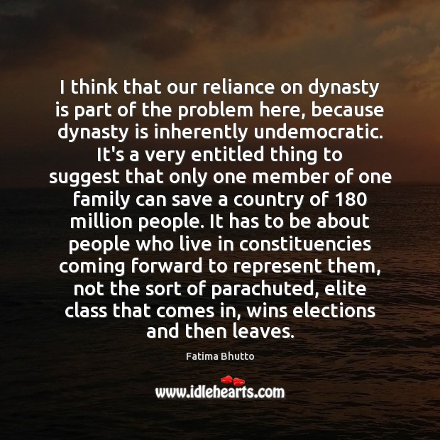 Image, I think that our reliance on dynasty is part of the problem