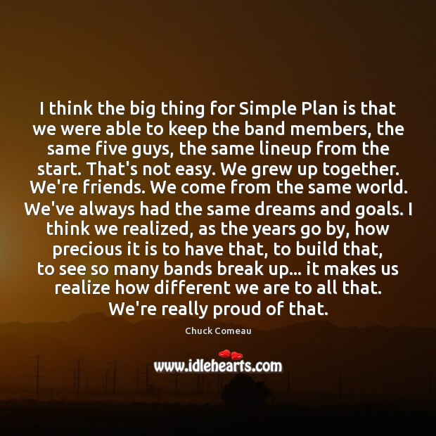 Image, I think the big thing for Simple Plan is that we were