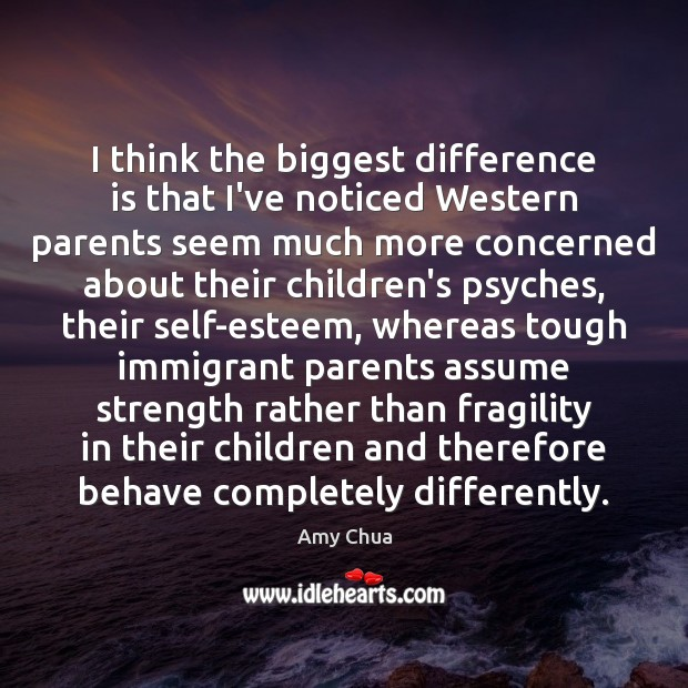 Image, I think the biggest difference is that I've noticed Western parents seem