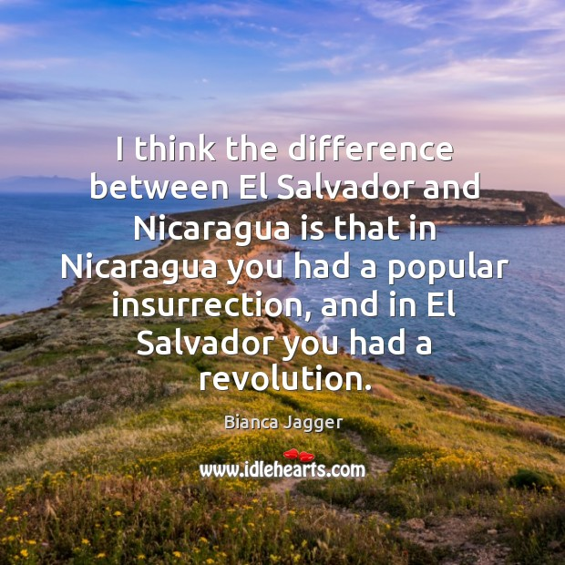 I think the difference between el salvador and nicaragua Image