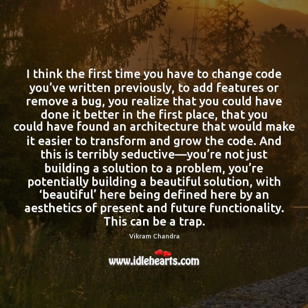 Image, I think the first time you have to change code you've