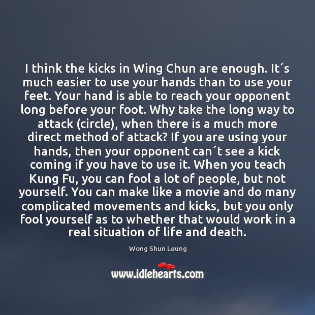 I think the kicks in Wing Chun are enough. It´s much Image