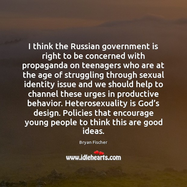 I think the Russian government is right to be concerned with propaganda Image