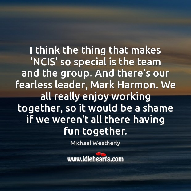 Picture Quote by Michael Weatherly