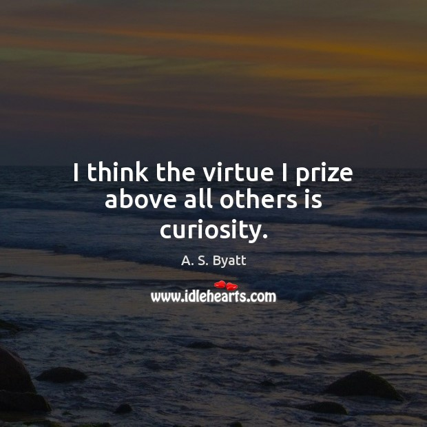 I think the virtue I prize above all others is curiosity. Image