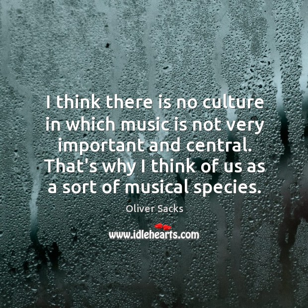 Image, I think there is no culture in which music is not very
