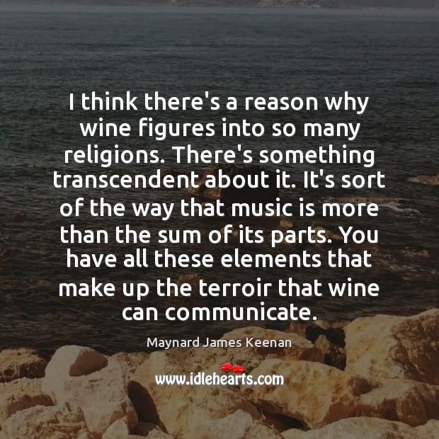 I think there's a reason why wine figures into so many religions. Image