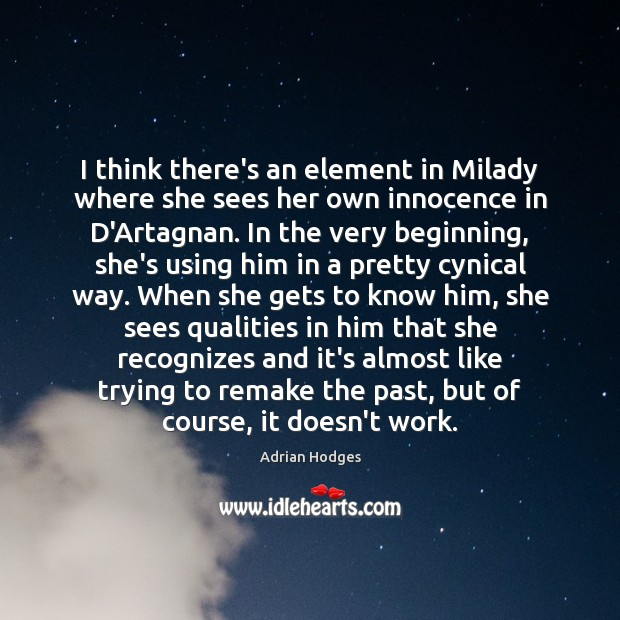 Image, I think there's an element in Milady where she sees her own