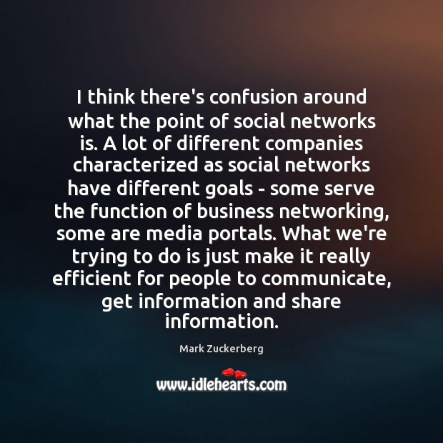I think there's confusion around what the point of social networks is. Image
