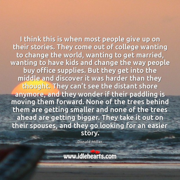 I think this is when most people give up on their stories. Image
