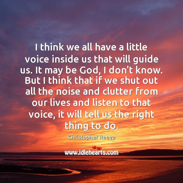 Image, I think we all have a little voice inside us that will