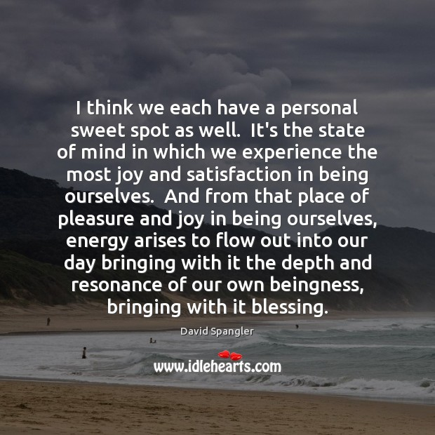 I think we each have a personal sweet spot as well.  It's Image